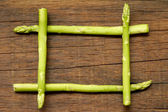 Asparagus  on  wooden  — Stock Photo