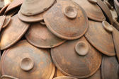 Group of pottery clay — Stock Photo