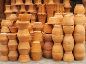 Group of clay vases — Stock Photo