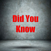 Did You Know on concrete wall — Stock Photo