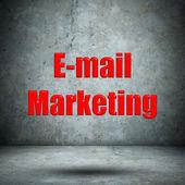 E-mail Marketing on concrete wall — Stock Photo
