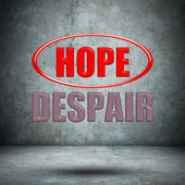 HOPE DESPAIR concrete wall — Stock Photo