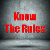 Know The Rules concrete wall — Stock Photo