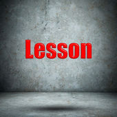 Lesson concrete wall — Foto de Stock