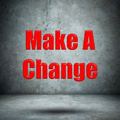 Make A Change concrete wall — Stock Photo