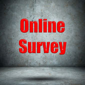 Online Survey concrete wall — Stock Photo