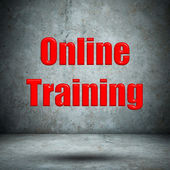 Online Training concrete wall — Stock Photo