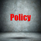 Policy concrete wall — Foto de Stock