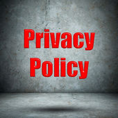 Privacy Policy concrete wall — Photo