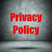 Privacy Policy concrete wall — Foto Stock