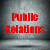 Public Relations concrete wall — Foto de Stock