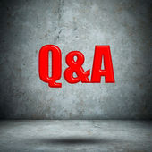 Q&A concrete wall — Foto de Stock