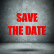 SAVE THE DATE concrete wall — Stock Photo #44941237