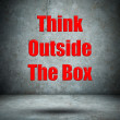 Think Outside The Box concrete wall — Stock Photo #44946239