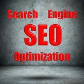Mur béton optimisation moteur de recherche — Photo