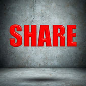 SHARE concrete wall — Foto de Stock