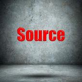 Source concrete wall — Stock Photo