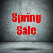 Spring Sale concrete wall — Stock Photo