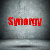 Synergy concrete wall — Foto de Stock