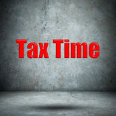 Tax Time concrete wall — Stock Photo