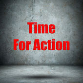 Time For Action concrete wall — Stock Photo