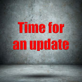Time for an update concrete wall — Stock Photo