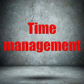 Time management concrete wall — Stock Photo