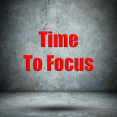 Time To Focus concrete wall — Stok fotoğraf