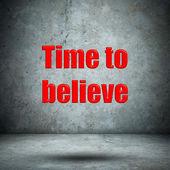 Время верить бетонную стену — Стоковое фото