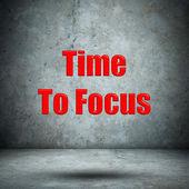 Time To Focus concrete wall — Foto de Stock
