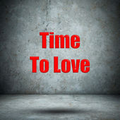 Time To Love concrete wall — Foto de Stock
