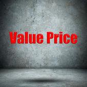Value Price concrete wall — Stock Photo