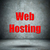 Web Hosting concrete wall — Stock Photo