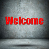 Welcome concrete wall — Foto de Stock