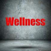 Wellness concrete wall — Stock Photo