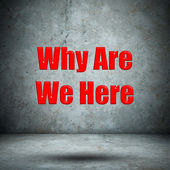 Why Are We Here concrete wall — Stock Photo