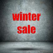 Winter sale concrete wall — 图库照片