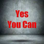 Yes You Can concrete wall — 图库照片