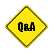 yellow road sign on white background — Photo