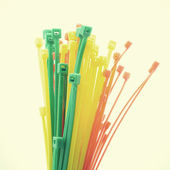 Cable ties old vintage retro style — Stock Photo