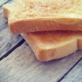Segment toast brood retro-vintage stijl — Stockfoto