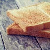 Estilo rebanada tostada pan retro-vintage — Foto de Stock