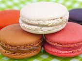 Amaretti francese dolce e colorati — Foto Stock