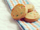 cookies old retro vintage style — Stock Photo