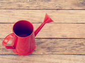 Red watering can retro vintage style — Foto de Stock