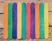 Colorful Wood Background old retro vintage style — Foto de Stock