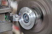 Lathe machine in action — Stock Photo
