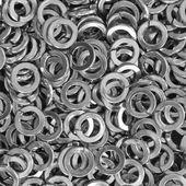 Mucchio di rondelle in acciaio inox — Foto Stock