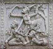Ramayana bas-relief sculpture — Stock Photo