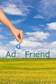 Add friend — Stock Photo
